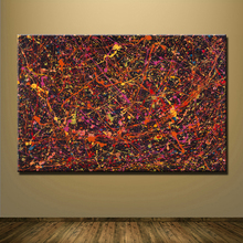 Abstract painting paintings printed by Jackson Pollock for home decor canvas for living Pictuers No Designed