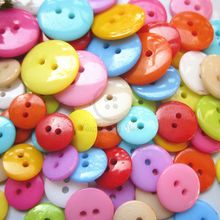 480pcs 17mm - 7.5 mm 2 holes Round bread Colorful Plastic craft Buttons Sewing scrapbooking Child handmade materials wholesale