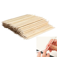 Wholesale 100pcs/pack Nail Art Orange Wood Stick Cuticle Pusher Remover For Manicures Care Beauty Health Nail Tools Nails Pusher