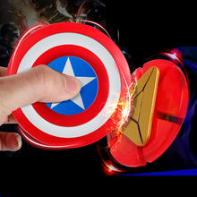 Captain America ,Iron man Shield Finger Hand Spinner Plastic EDC For Autism and ADHD Fidget Spinner Anti Stress Toys for Adults