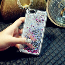 For Apple iPhone 5 5s SE Liquid Glitter Meteor Sand Design Case Mobile Phone Cases Sequins Dynamic Plastic Fundas
