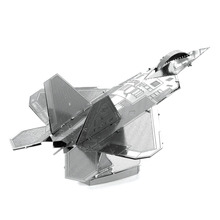 F-22 Raptor 3D Metal Puzzle Aircraft Plane Military Aviation Model Toys Magnetic Jigsaw Puzzle Learning Educational Toys
