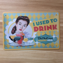 Direct selling Delicious drinks metal Tin sign tinplate vintage metal painting for home bar pubs decoration 20x30cm(China)