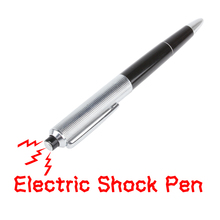 Promotion Fancy Ball Point Pen Shocking Electric Shock Toy Gift Joke Prank Trick Fun M09(China)
