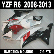 7 gifts body kit for 2008 - 2013 YAMAHA R6 fairings factory outlet 08 09 10 11 12 13 YZF R6 white red black fairing kits SED74