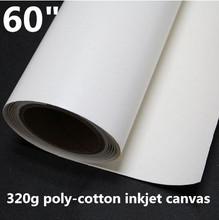 60 inch Poly Cotton Printing Fabric Polycotton Canvas Roll For Inkjet Printing(China)