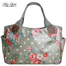 MISS LULU Women Scottie Dog Owl Butterfly Flower Dots Shopper Handbag Top-handle Bags Shoulder Tote Market Hand Bag YD1105