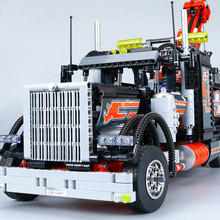 Lepin 20020 Technic Mechanical Ultimate Series The American Style Heavy Container Trucks Set 8285 Building Blcoks Bricks Gifts(China)