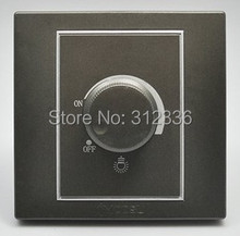 free shipping wall switch light modulator switch light regulator switch light control coffee color(China)