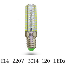 1x Mini E14 LED Lamps 3014 SMD Crystal Chandelier 220V Spotlight Corn Bulbs Pendant Refrigerator Light Silicone