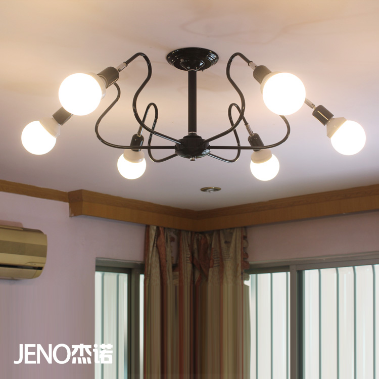 Modern brief 6 lamp in 1 ceiling light for living room and restaurant personalized Mediterranean style light<br><br>Aliexpress