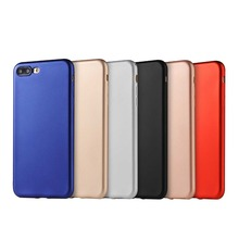 BOOGIC Metallic Colors Soft Phone Cases for Apple iPhone 7 Plus Fashion Back Coque Case Automobile Metal Spray Painting Process(China)
