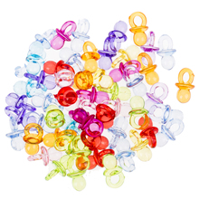 50Pcs Mix Baby Shower Favors Mini Pacifiers for Girl Baby Shower birthday Decorations childhood ravie and smallest ultra