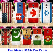 Retro UK Russia Brazil National Flag Phone Cases For Meizu MX6 Pro Covers Meilan Pro 6 Pro 5 mini 5.2 Housing Bags Skin Shell