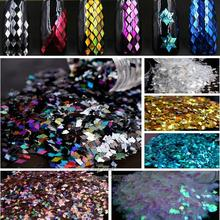 1pc UV Nail Art Tips 2mm Big Paillette Dust  DIY False Nails Toes Large Prismatic Sheet Laser Glitter Decor Material 25 Choices