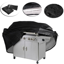 Large Black BBQ Cover Waterproof Grill Barbeque BBQ Accessories Anti Dust Gas Charcoal Outdoor Rain Electric Bag(China)