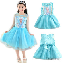 Fashion Children Dress Kids Party Dress Vestidos Cosplay Baby Elsa Girls Princess Dresses Kids Christmas Anna Kids Party Dresses(China)