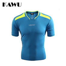 KAWU Custom Made Football 2017 Sport Running Men T Shirt soccer jerseys Short Sleeve football jerseys plus size 5XL C17008