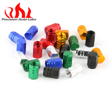1 set of 4 pcs universal aluminum hexgon style auto car tyre valve caps motorcycle bicycle wheel tire valve cap Promotion