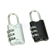A96 Mini 3 Digit Dial Combination Suitcase Luggage Metal Code Password Lock Padlock#XY#