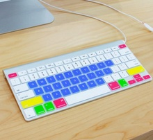 Brand New Wholesale Price Colorful UK/EU Silicone Soft Keyboard Cover Skin For APPLE For Mac 13 15 17 For MacBook PRO