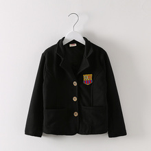 Autumn/Spring Badge School Suits for Kids Jackets Boys Blazers Children Outwear Clothes t10519DBO