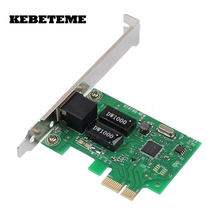 KEBETEME 10/100/1000Mbps Ethernet PCI Express PCI-E Network Controller Card RJ45 Lan Adapter Converter FOR Desktop PC Computer(China)