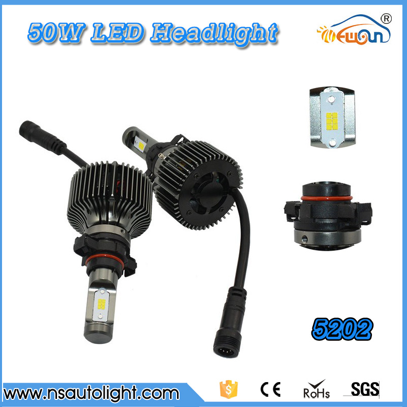 Super Bright  P7 plus high power 50w 5202 h16 Led Car Headlight Conversion Kit Fog Lamp Bulb DRL 12-24v DC car styling<br><br>Aliexpress