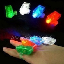 4pcs/sets LED Finger Lights Lamps For Party Laser Finger Light Up Beam Torch Glow Ring Colorful Product Wholesale