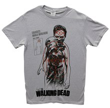 Printed Summer Style Tees Male Harajuku Top Fitness Brand Clothing The Walking Dead Walking Target Men's T-shirt