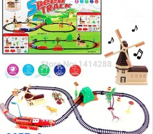 Electric Rail Train Assembled Toy with Light Music Kids Toys Sets for Christmas Birthday Gifts Boy Vehicles Gifts