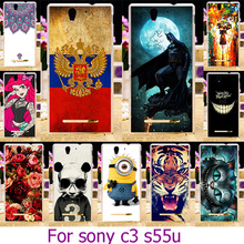 Soft TPU Plastic Case For Sony s55u C3 For Sony Xperia C3 D2533 C3 Dual D2502 S55T S55U 5.5 inch Painted Case Cover Housing