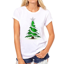 Christmas Tree New Fashion women's T-shirts Short Sleeve t shirt women's Brand Clothing Factory outlets can be customized 48N-4#