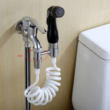Hand held Bidet Shower Black Blue White Yellow Silver Toilet Jet Cleaner Portable High Pressure Shower Head Faucet Brass(China)