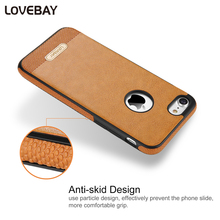 Lovebay Phone Case For iPhone 7 7 Plus 6 6s Plus 5 5s SE Luxury PU Stitching Phone Case For iPhone 7 6 6s 5 5s Back Cover Bags(China)