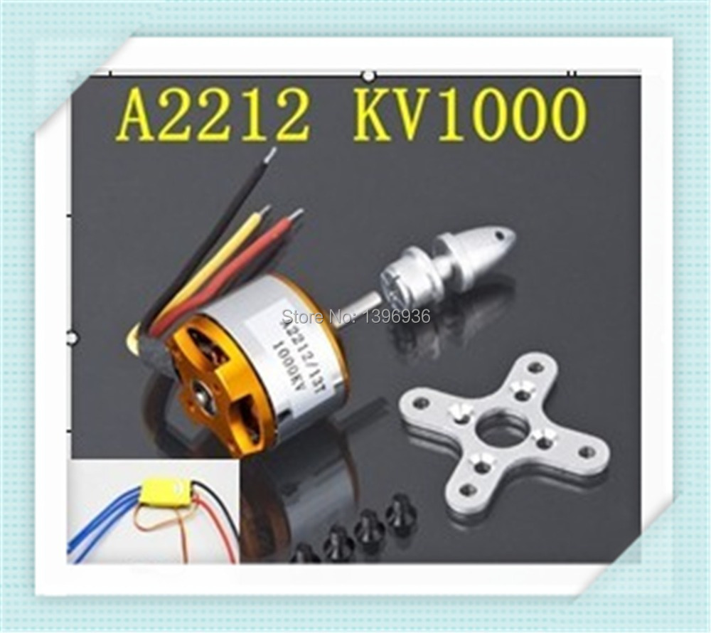 4pcs A2212 Brushless Motor 1000KV H366 +4pcs30A ESC Brushless Motor Speed Controller for RC Aircraft Plane<br><br>Aliexpress