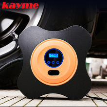 Kayme 12V 40psi car pump air compressor auto metal mini tire compressor electric portable tyre inflatable pump for Moto Bike(China)