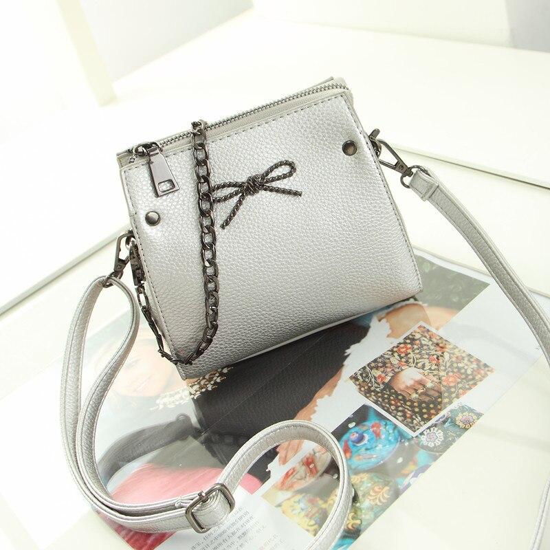 Fashion silver ladies handbag women fashion bags 2017 bow printed shoulder bags designer high quality PU leather mini chain bags<br><br>Aliexpress