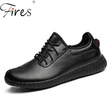 Fires Light Running Shoes Big Size Mens Sports shoes Leather Sneakers Large size Couple Sport Shoes Autumn Brand Zapatil Shoes(China)
