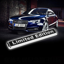for AUDI Q3 A4L A6L Q5 R8 Q7  Metal Limited Edition Emblem Badge Decal Sticker Super Quality Auto Car 3D Sticker Trunk Logo