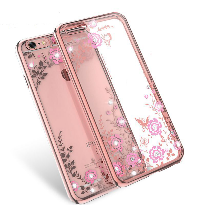KISSCASE Luxury Rhinestone Soft TPU Case For iPhone 7 6 6s Plus 5 5s SE Samsung Galaxy S6 S7 Edge S8 S8 Plus Diamond Cases Cover(China)