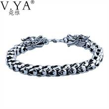 Genuine 100% Real Pure 925 Sterling Silver Bracelet 5-7MM Thickness Dragon Scale Bracelets for Men Women fine jewelry YB11