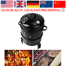 Portable Large Outdoor BBQ Grill Stove Metal Charcoal Grill Roasting Stove Carbon Oven Grill for Backyard Garden Picnic Cooking