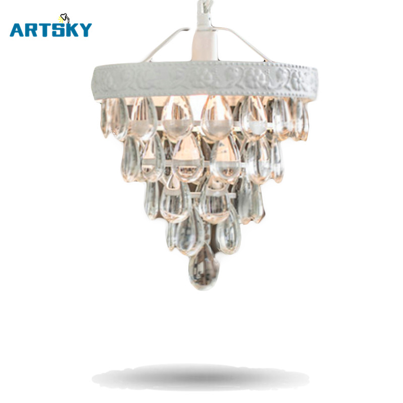 Modern  European Minimalist Crystal  Pendant Lamps Lighting Fixture Crystal Small Clear Crystal for Livingroom Bedroom Indoor <br><br>Aliexpress