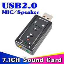 External USB VIRTUAL 7.1 Channel 3D Speaker Audio Microphone Sound Card Mic Adapter 3.5mm Jack Stereo Headset Converter