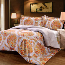 GGGGGO HOME 3/4 pcs duvet cover set Phoenix flower printed bedding set  king/queen/full/twin/double/single/family size