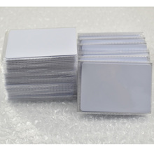 100pcs/lot EM4305 rfid tag blank card Thin pvc Card read and write writable readable RFID 125KHz Smart Card(China)