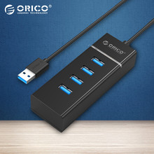 ORICO High Speed USB HUB Portable 4 USB Ports 3.0 HUB for Laptop/Ultrabook with Vl812 Chipsets-Black(W6PH4)