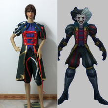 The Demon Jester Wild Card Shaco Cosplay Costume Anime Custom Made Uniform Free Shipping