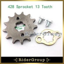 428 17mm Front Engine Sprocket Gear 13 Tooth For 50cc 70cc 90cc 110cc 125cc 140cc 150cc 160cc Dirt Pit Bike ATV Quad Lifan YX